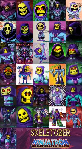 Click to see all my Skeletober artwork!